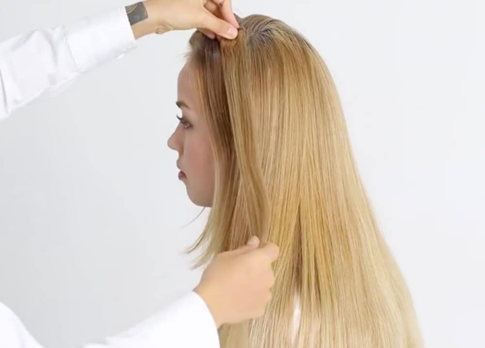 HOW TO: CLIP IN THE CHIC 16u201d SET IN NORMAL HAIR